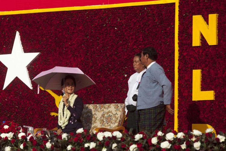 Aung San Suu Kyi campaign rally in Yangon