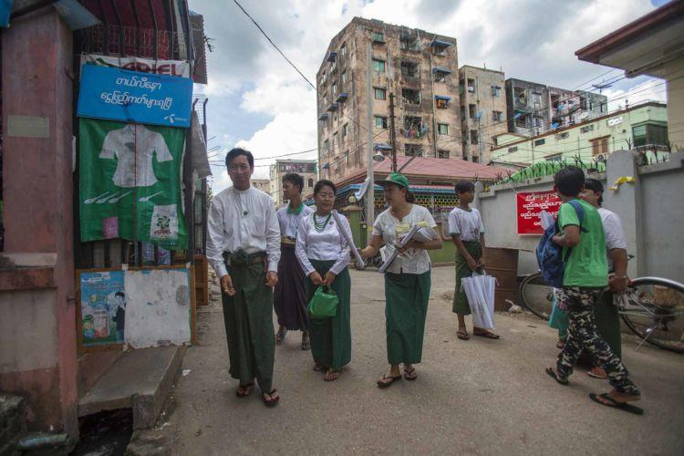 Myanmar elections campaign